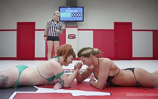 after training Barbary Rose loves to punish her ebony girl with a strapon