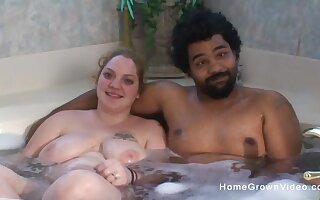 Blonde bbw and her black boyfriend havent been together long