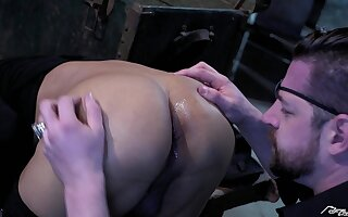 Black gay slave guy pounded by his masters big white dick