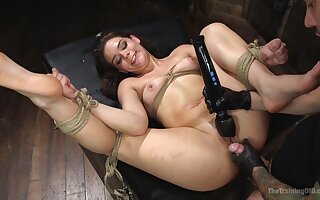 Black vibrator and friend's penis are perfect combination for Kimber Woods