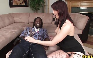 pierced pussy Dana Dearmond gets her cunt and ass banged by black guy