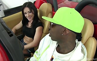 Jennifer White likes to ride on a black penis until they both cum