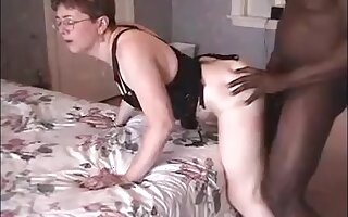 Hot granny suck black bull dick and get hard fucked and hubby watch