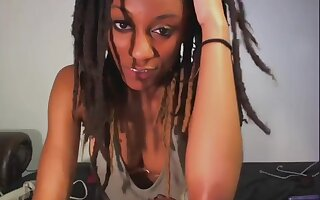 I am being naughty in my ebony amateur porn video