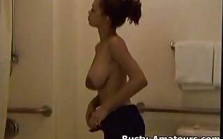 Hot ebony chick Gia on shower