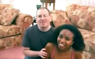 So sexy black girlfriend make a hot sex video with his dude and share in web