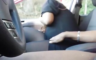 Black streetslut gives a bare blowjob, but doesn't swallow.