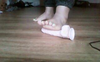 Super Thick Bbw Crushing Dildo Wih Sexy Feet