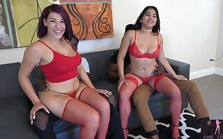 Two obese raven guys bang PAWGs Valentina Jewels and Julz Gotti