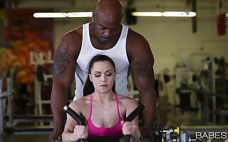 Great gym coition for Tiffany Star sees say no to getting good black dick