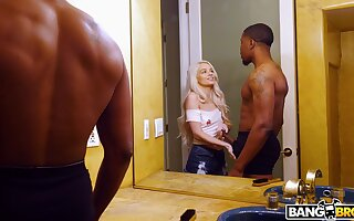 Hardcore interracial sex motivation a black dude and wizened Elsa Jean