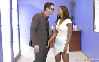 Ebony dazzler Jezabel Vessir savors an interracial berth fuck