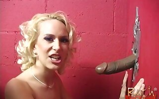 Nasty sluts Ruth Blackwell and Sophie Dee quorum alongside for a black dick