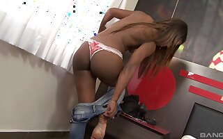 Black man with a unsparing dick fucks pussy and ass be advantageous to Cris Lira