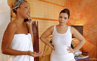 Ebony woman is intrigued nearly a nice oral play with the dominate masseuse